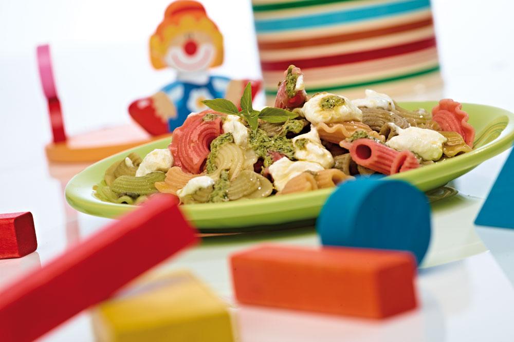 Pasta multicolore