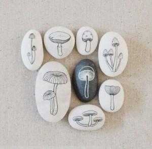 giovanigenitori - sassi dipinti funghi