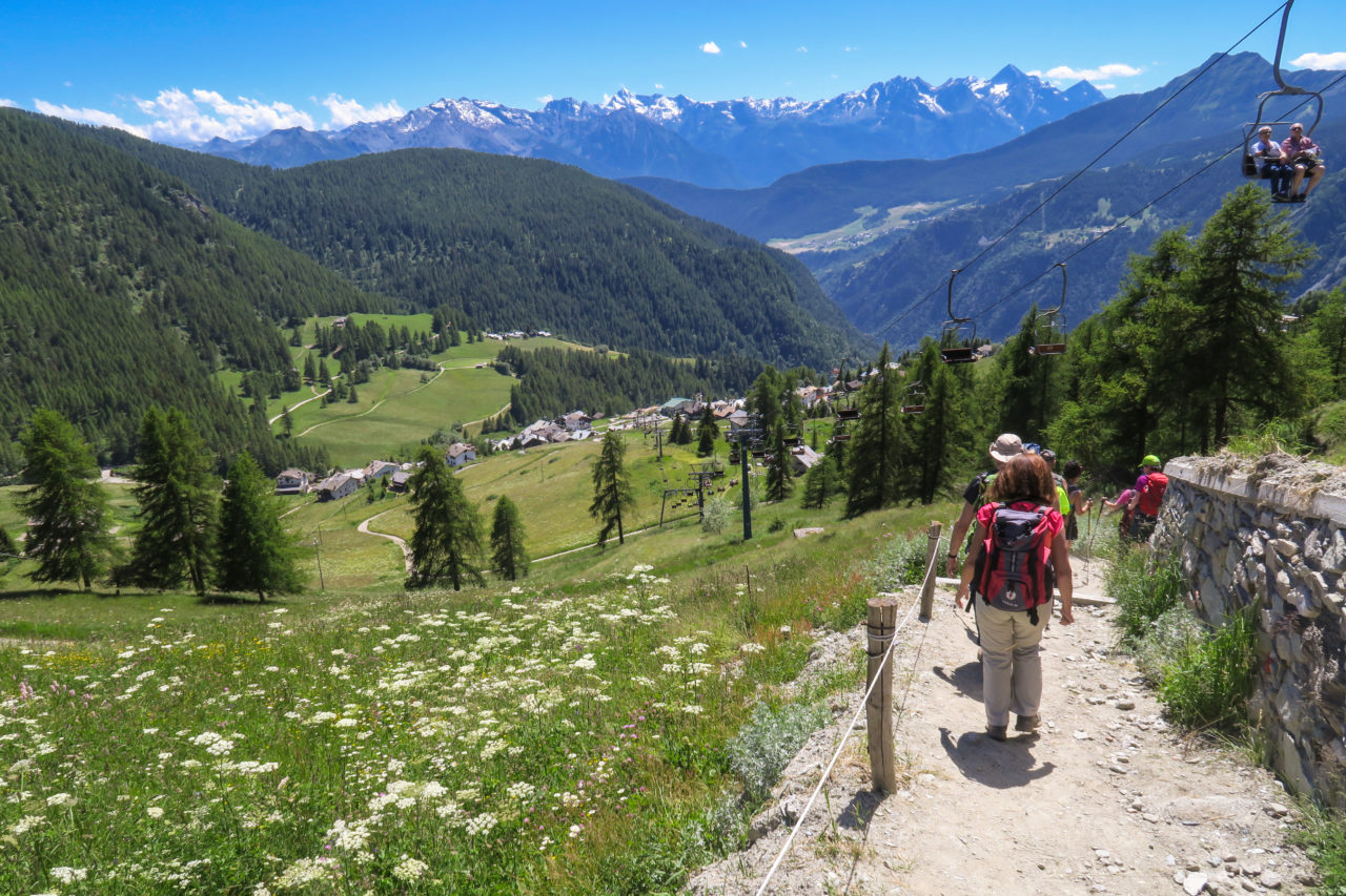 gita a chamois valle d'aosta passeggiate