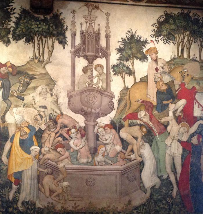 castello della manta fontana della giovinezza