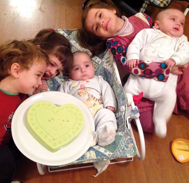 Cinque figli in cinque anni
