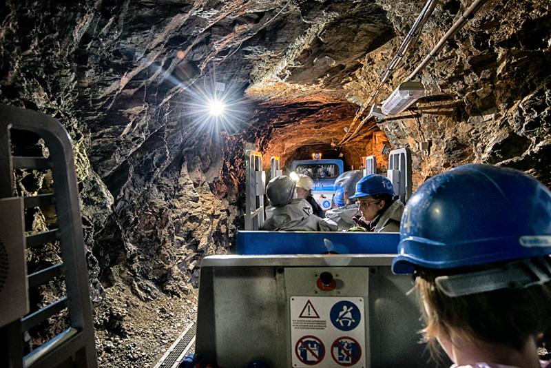 Trenino dei minatori nelle Miniere di Prali
