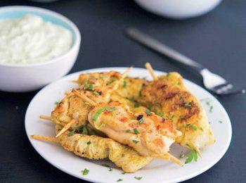 Spiedini di pollo alla greca