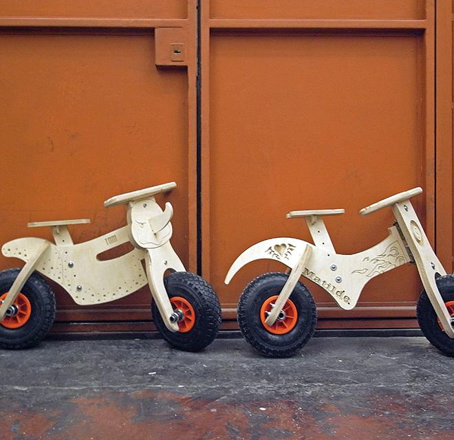 Costruiamo una bici in legno