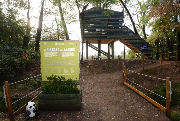 Inaugurata all'Oasi WWF di Vanzago la casa sull'albero progettata dai bambini