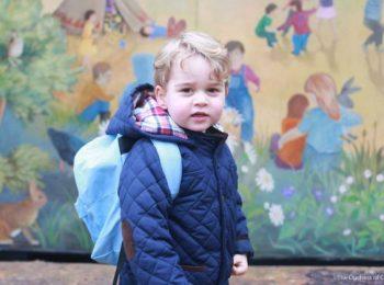 Primo giorno di asilo per George d'Inghilterra