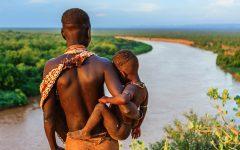 bambini africani ed europei a confronto