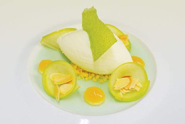 Mela verde gelato alla cannella e pompelmo