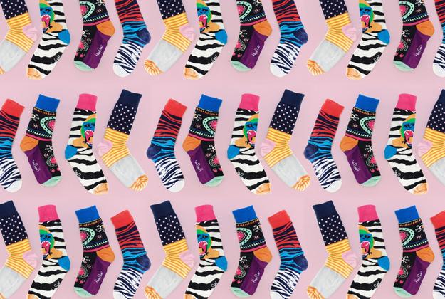 Happy feet in happy socks