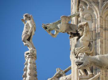 Santi sul tetto del Duomo