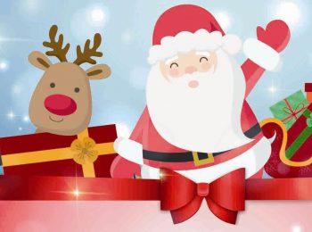 Arriva Babbo Natale carico di doni