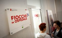 GG fiocchi in ospedale con save the children