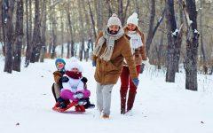 GG montagna e neve con i bambini1