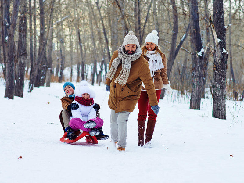 Montagna e neve con i bambini