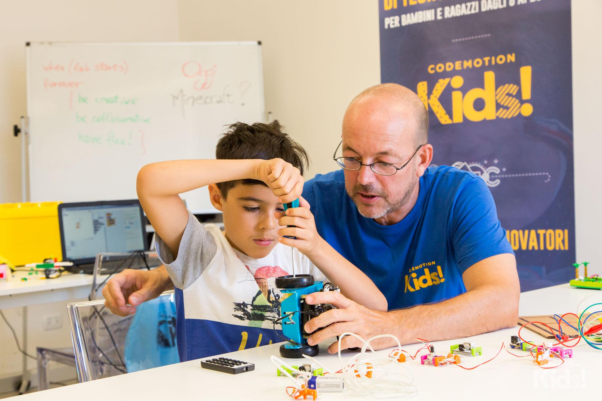 A scuola di nuove tecnologie con Codemotion Kids!, a Roma, Milano, Torino