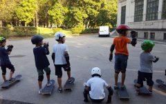 GG papa e figli skate insieme