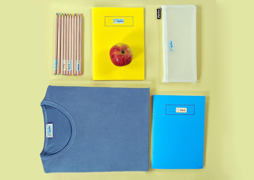 Etichette personalizzabili per iniziare la scuola con ordine