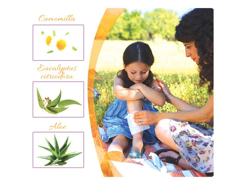I bambini e la puntura di zanzara