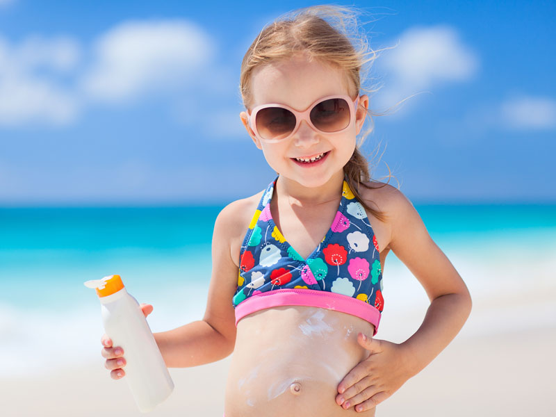 Le creme solari giuste per i bambini