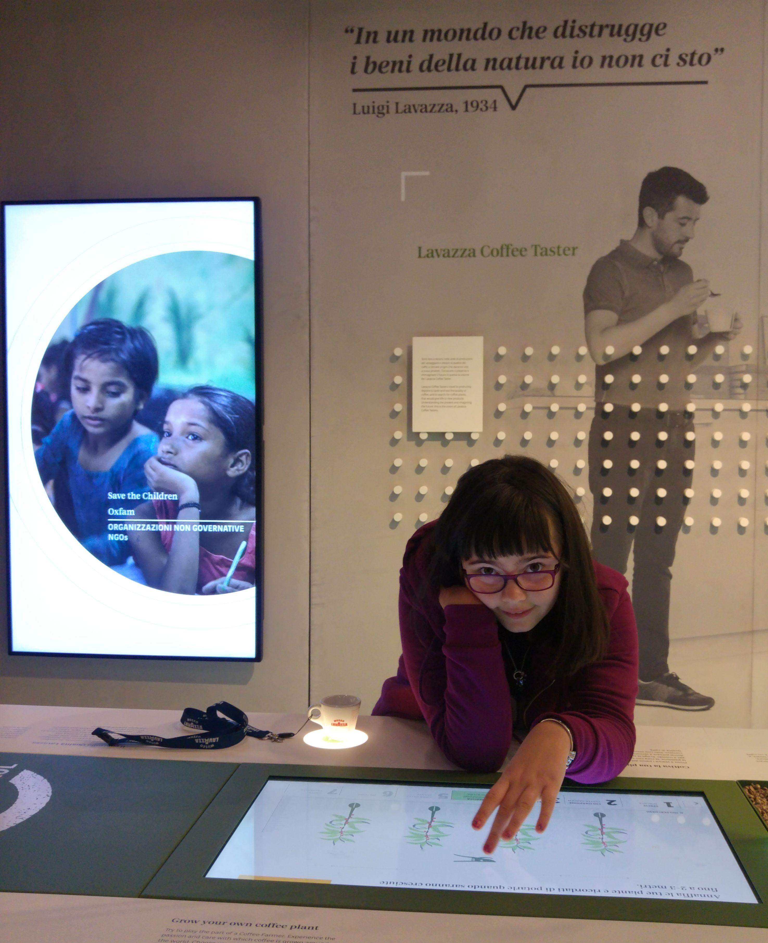 Museo Lavazza con bambini e giovani genitori