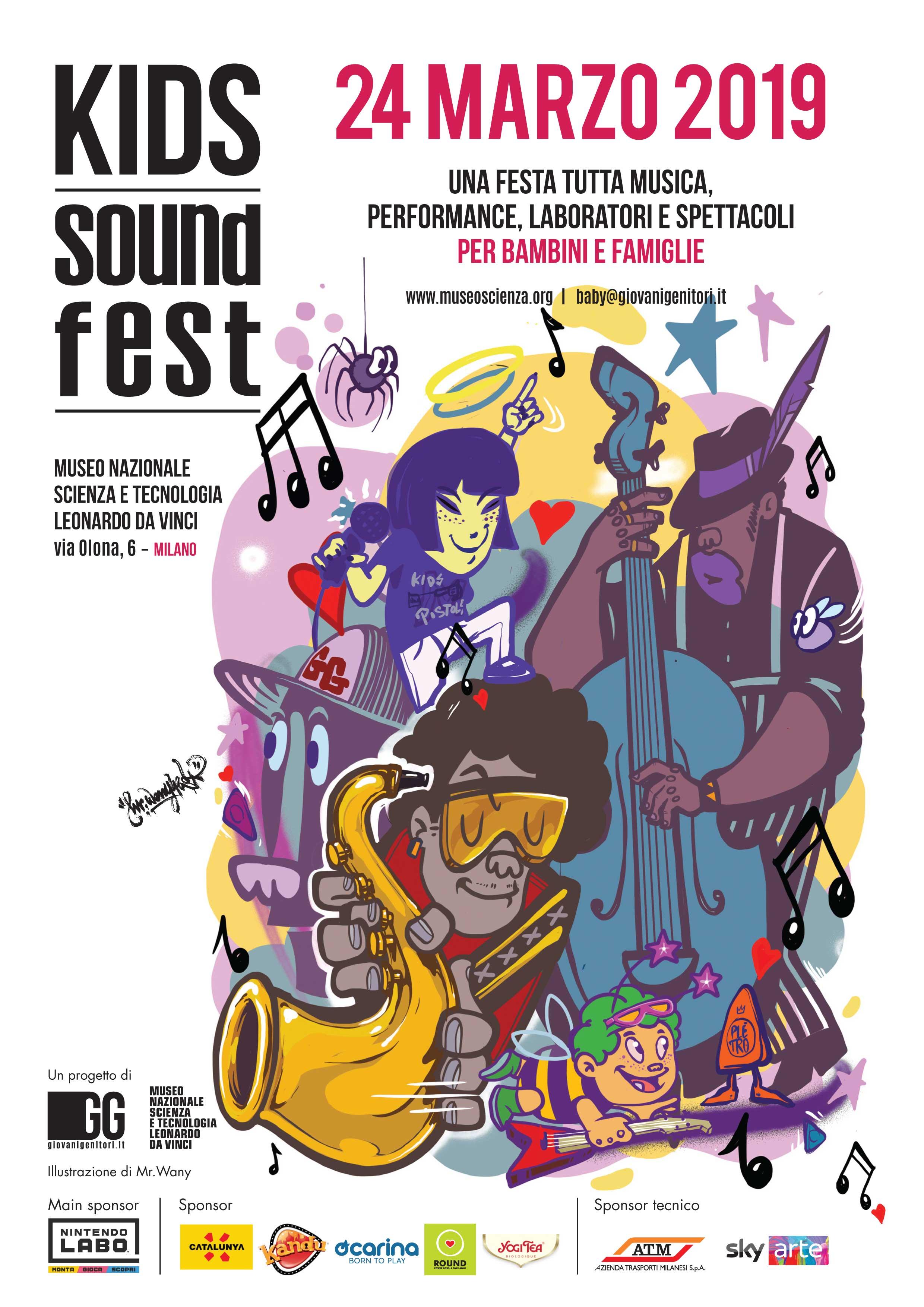 Kids Sound Fest 2019 Milano locandina