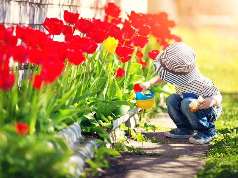 I bambini devono giocare in giardino