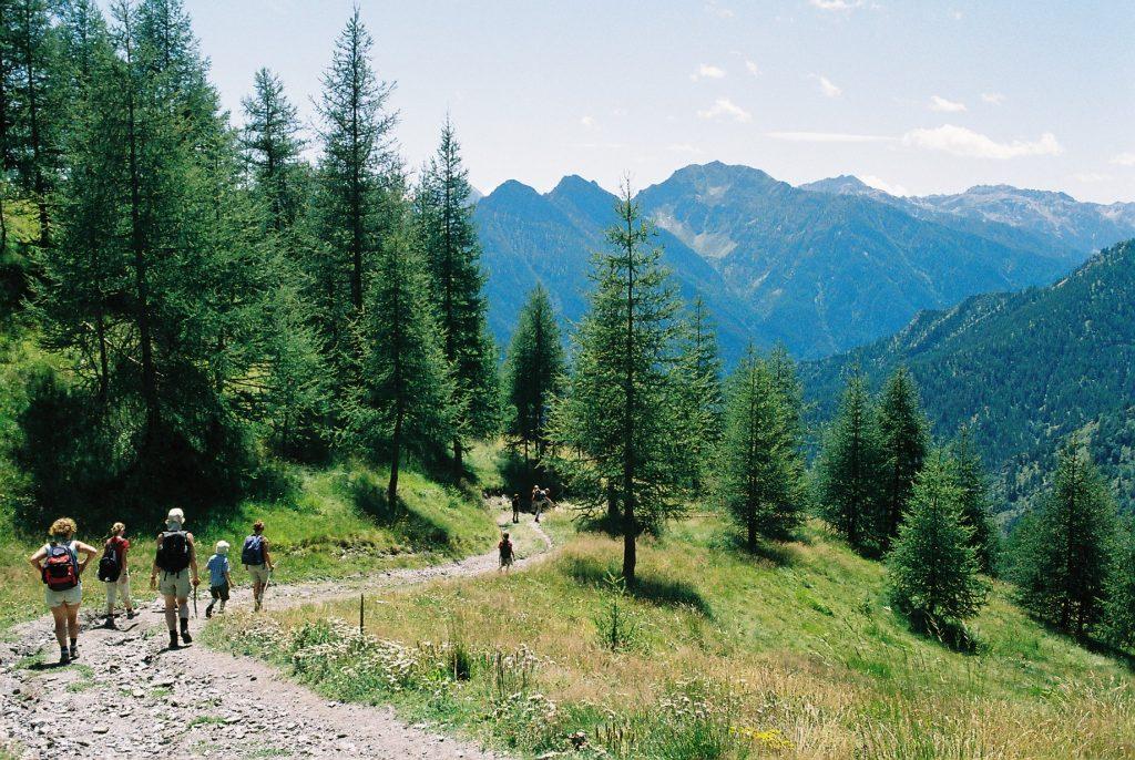 trekking montagna con bambini
