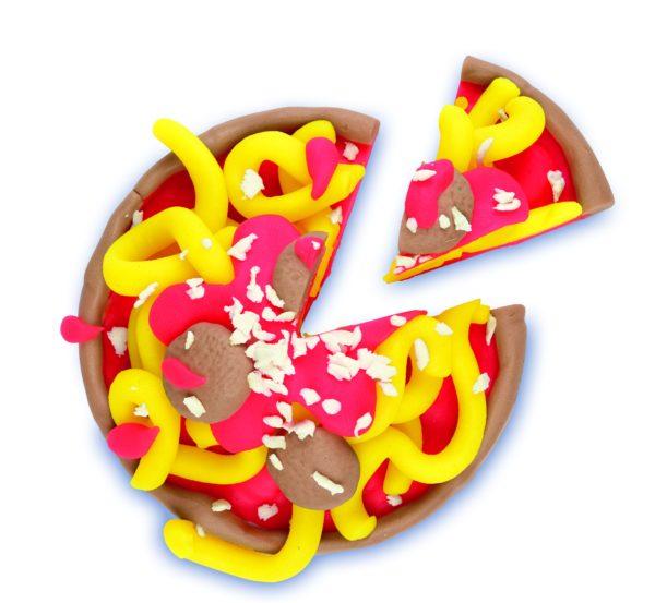 Play-Doh pizza creatività manipolazione