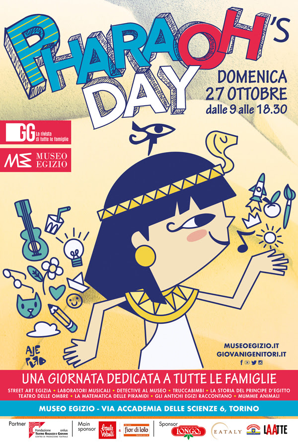 Pharaoh's Day 2019 Museo Egizio Bambini Locandina