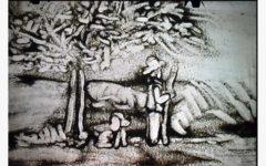 GG uomo che piantava gli alberi