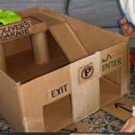 Costruire un garage e altri giochi con scatole di cartone