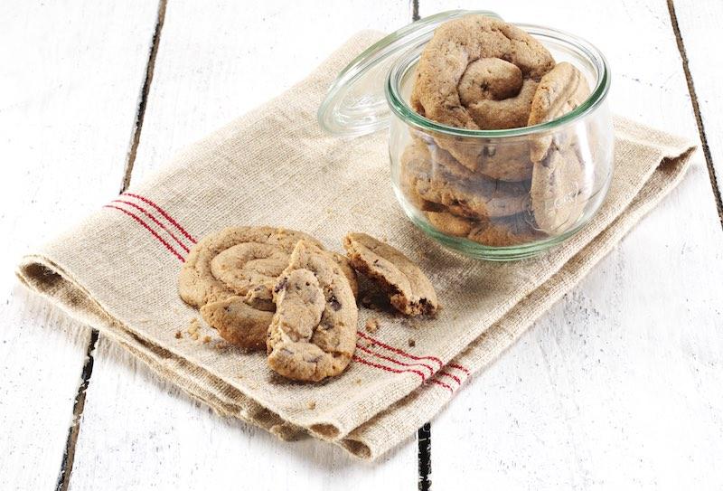 Biscotti con farina di riso al cioccolato fondente bio di Alce Nero