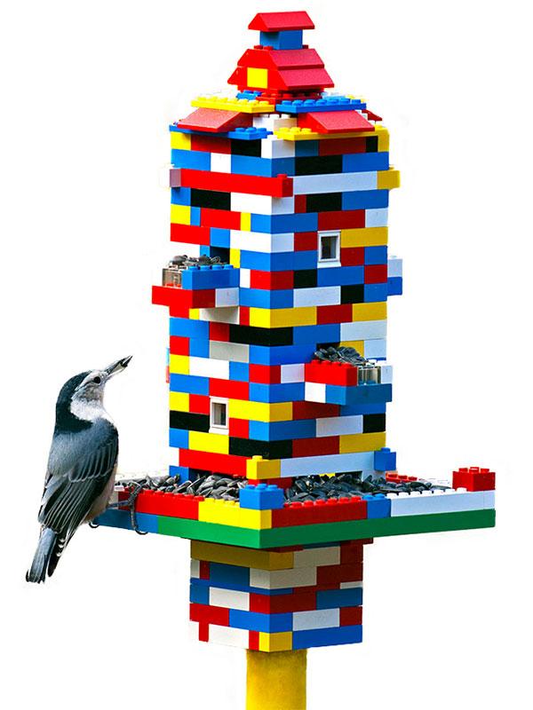 Festa del papà - LEGO idee creative - mangiatoia per uccelli giovanigenitori.it