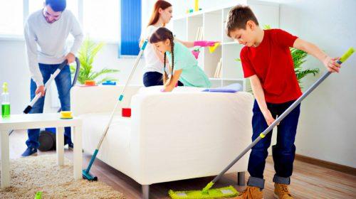 La casa igienizzata senza difficoltà