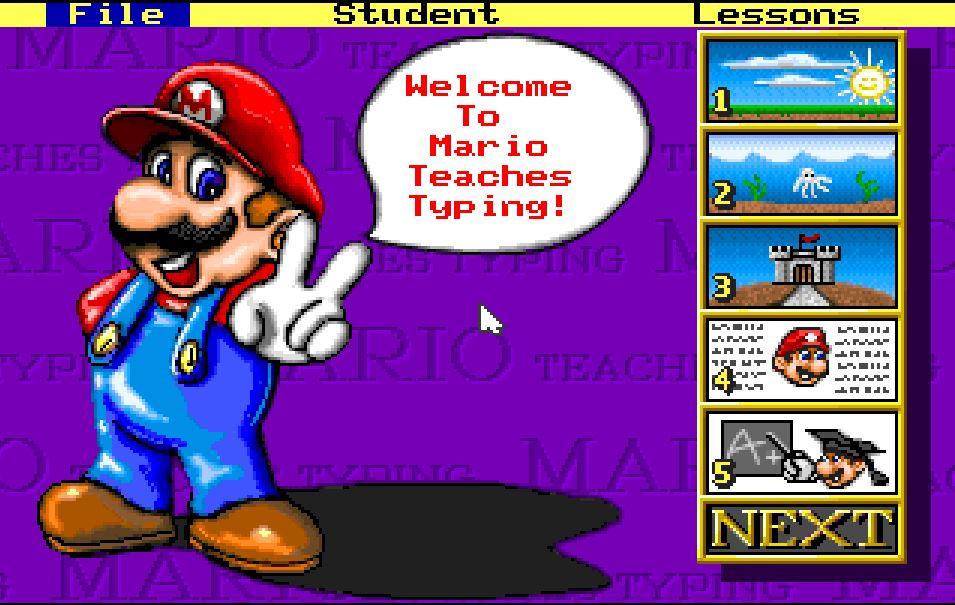 Imparare a usare la tastiera: Mario Teaches Typing