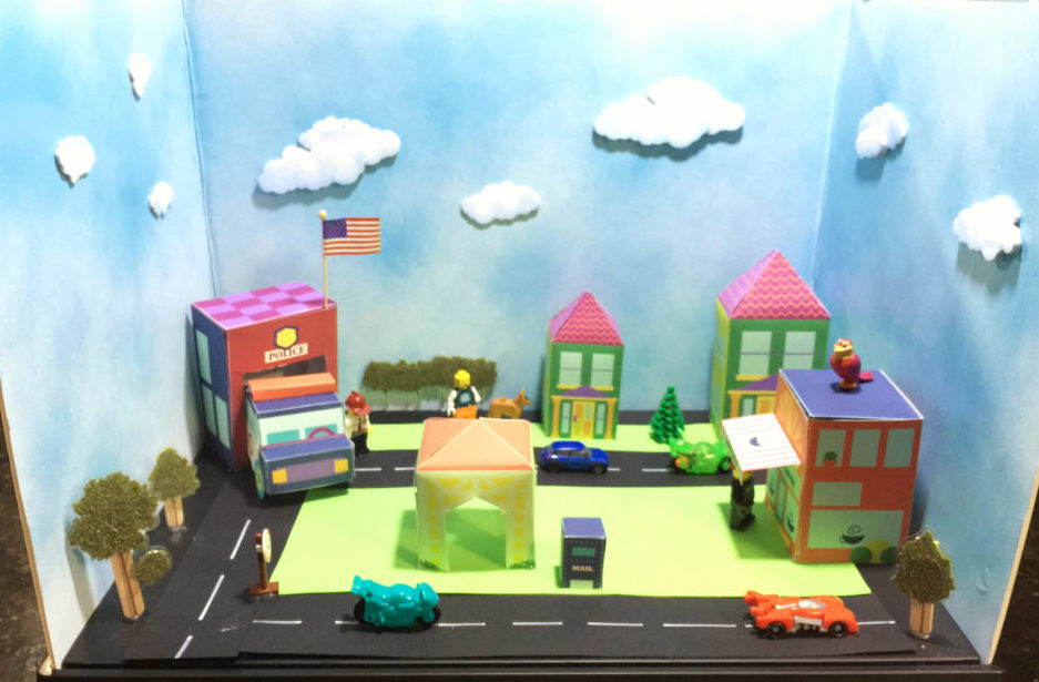 costruire un diorama città