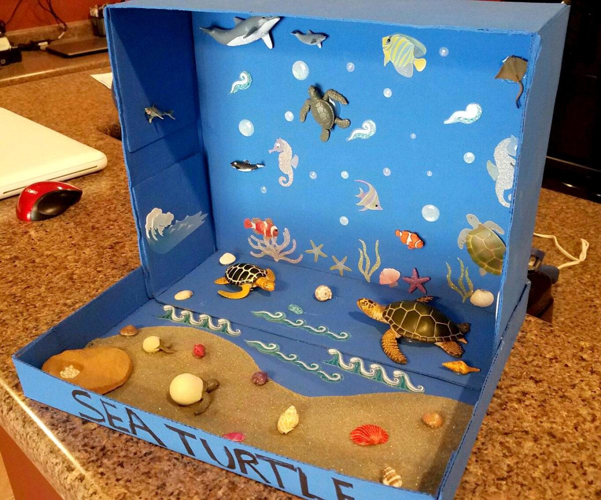 Costruire un diorama - ambiente marino