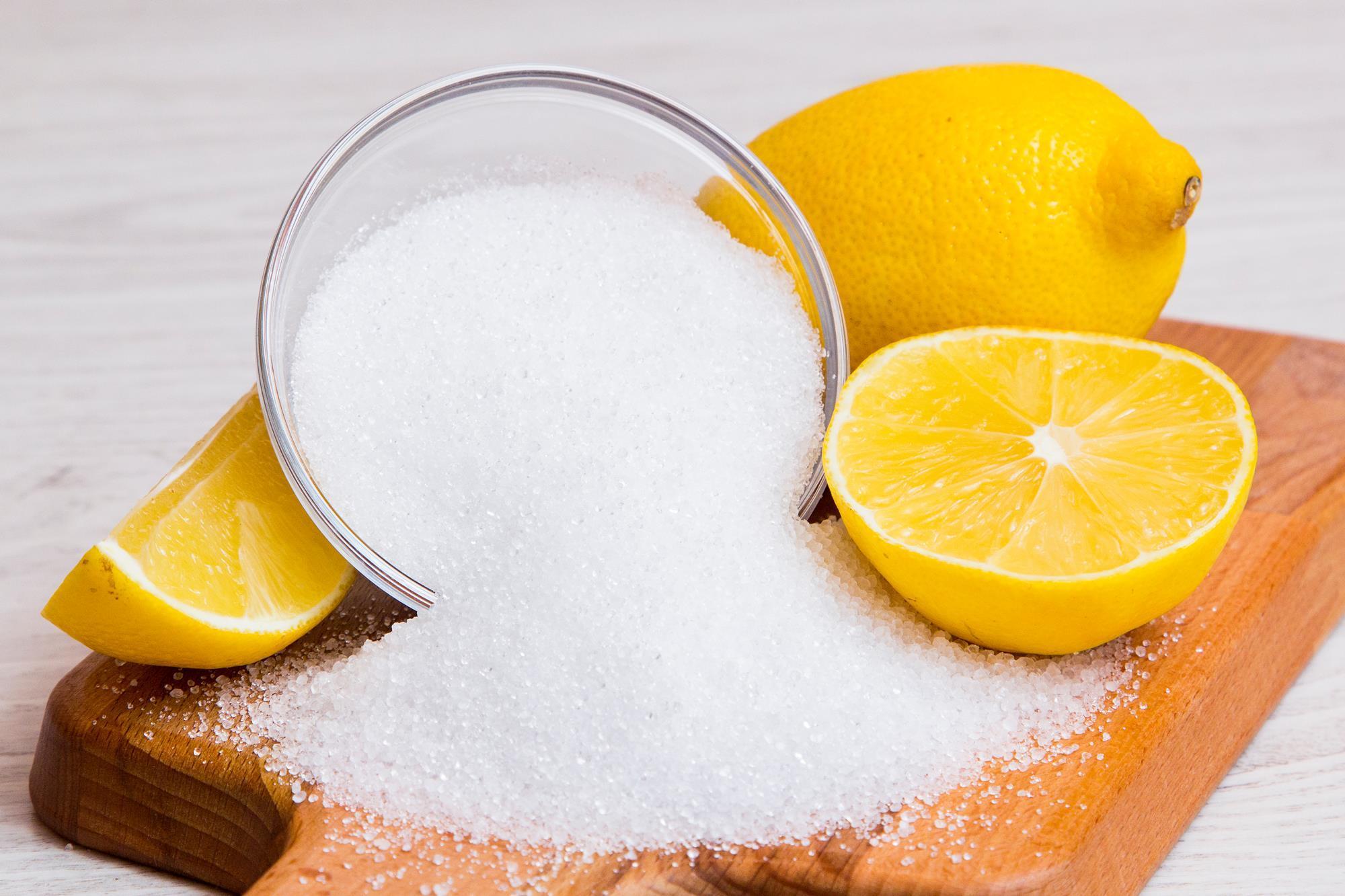 acido citrico pulizie di casa