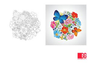 giochi da stampare - colora come esempio