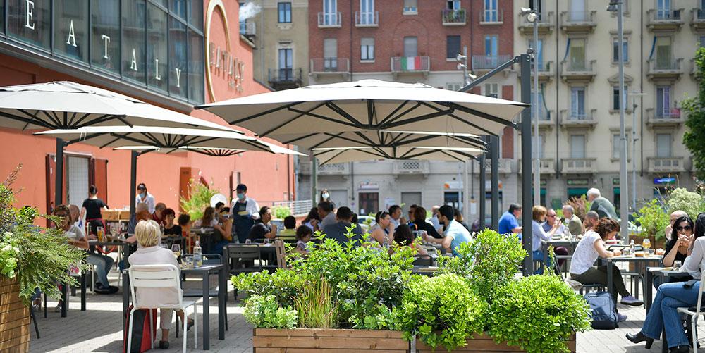 All'aperto da colazione a cena nell'Or-TO urbano di Eataly Lingotto